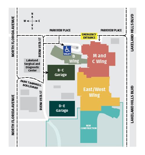 Driving Directions Map Lakeland Regional Health